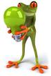 Grenouille et ampoule verte