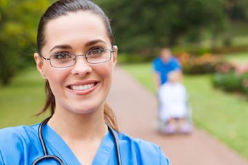 close-up of pretty nurse
