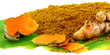 safran des îles, poudre de curcuma, rhizome, feuille