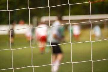 Fußball Spielfeld durch Tornetz
