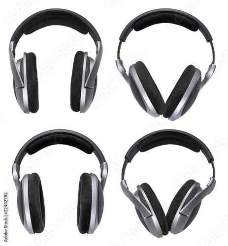 Headphones set isolated