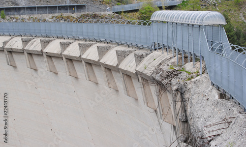 Fotobehang Dam vajont