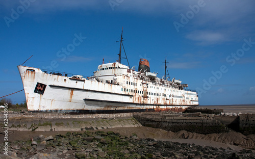 The beached Duke of Lancaster
