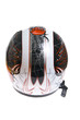 Modern motorcycle helmet isolated on white