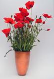 Vaso di fiori con papaveri