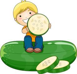 Boy with Cucumber