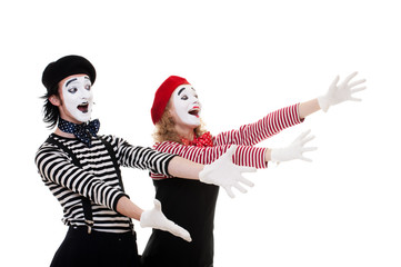 portrait of happy mimes