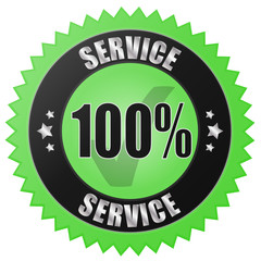 100% SERVICE - green