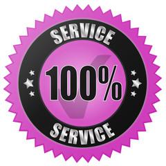 100% SERVICE - pink