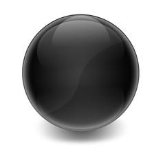 Esfera brillante negra