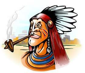 indian chief smoking tube