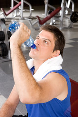 Young and healthy man in a gym