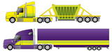Conventional trucks with reefer and dump trailers