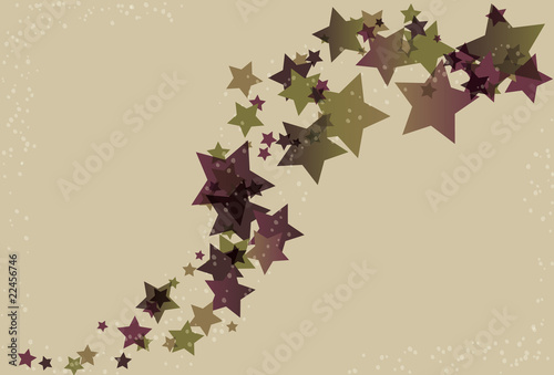 Messy Stars and Swirl Background