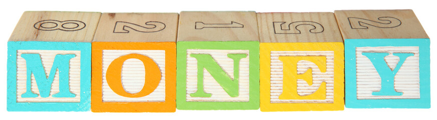 Money Alphabet Blocks