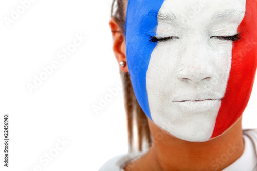 French flag portrait