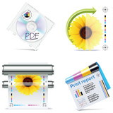 Vector print shop icon set. Part 6