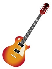 colored vector illustration of electric guitar