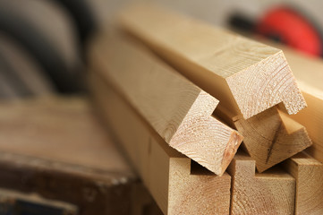 Freshly Machined Pine wood