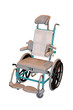 A Metal Framed Basic Design Manual Wheelchair.
