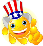 Uncle Sam Sun pointing poster