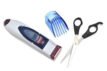 Rasoio elettrico per capelli e forbici