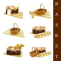 set of different basket