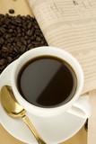 Caffeine Drink & Newspaper poster