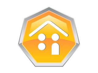 Heptagon House Logo Design Icon