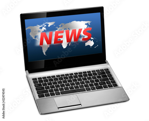 Laptop News Screen