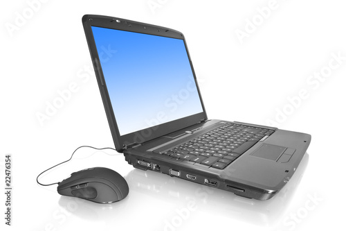 laptop and mouse. computer technology