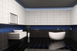 Badezimmer innenaufnahme 3d