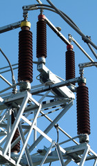 High voltage insulators.