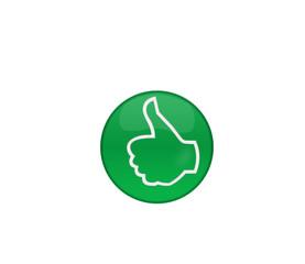 Símbolo positivo en botón web