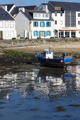 peschereccio in secca, Camaret Sur Mer, Bretagna