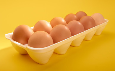 Ten eggs in hawker's stand