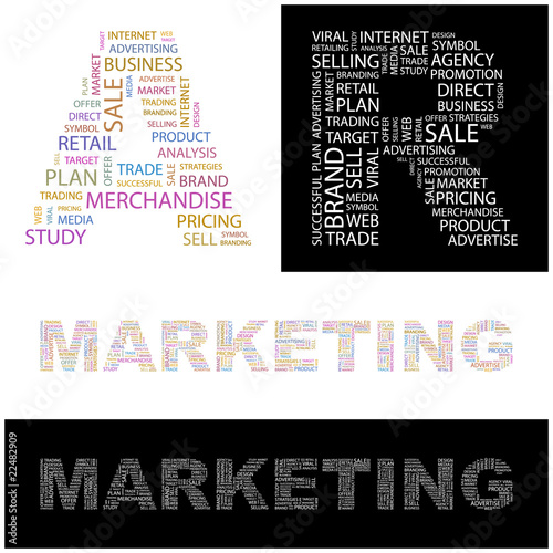 MARKETING. Wordcloud vector illustration.