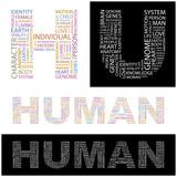 HUMAN. Wordcloud illustration. poster