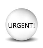 Urgent Icon - white poster