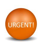 Urgent Icon - orange poster
