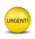 Urgent Icon - yellow poster