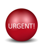 Urgent Icon - red poster