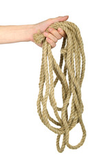 Hand hold rope