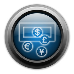 "Dark and Glowing Button ""Money Exchange"""