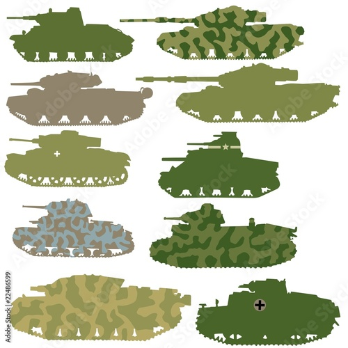 vector set of tanks