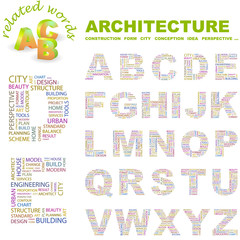 ARCHITECTURE. Vector letter collection.