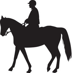 man on the horse silhouette vector