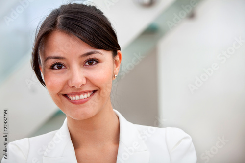 friendly business woman portrait