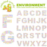 ENVIRONMENT. Illustration with different association terms. poster