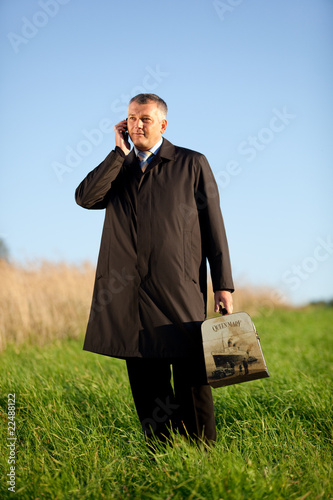 adult man on mobile phone